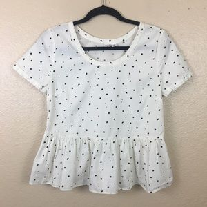 2 for $20 Melrose and Market peplum top with stars